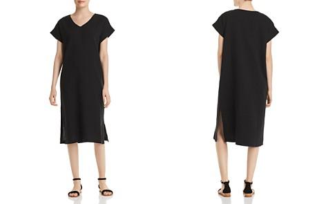 Eileen Fisher Petites Silk V-Neck Dress - Bloomingdale's_2
