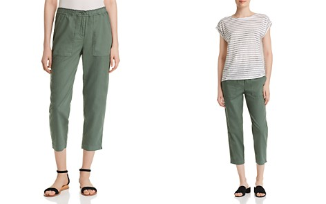 Eileen Fisher Organic Linen Cropped Pants - Bloomingdale's_2