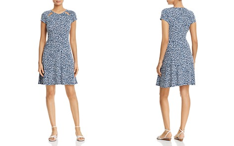MICHAEL Michael Kors Micro-Floral Cutout Dress - Bloomingdale's_2