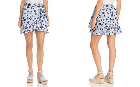 AQUA Floral Striped Wrap Skirt - 100% Exclusive - Bloomingdale's_2