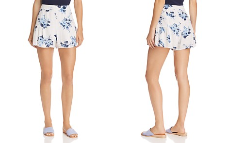 AQUA Flounced Floral Print Shorts - 100% Exclusive - Bloomingdale's_2