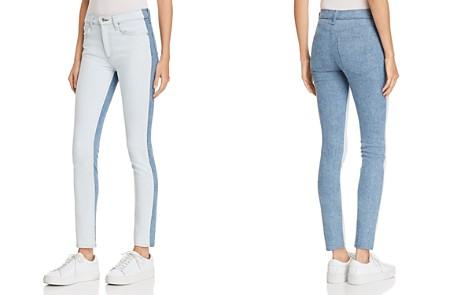 rag & bone/JEAN Contrast High-Rise Skinny Jeans in Double Blues - Bloomingdale's_2