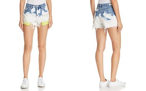 BLANKNYC Bleached Denim Shorts in Now Or Never - Bloomingdale's_2