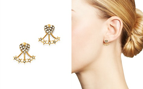 SUEL Blackened 18K Yellow Gold Heart & Star Diamond Ear Jackets - Bloomingdale's_2