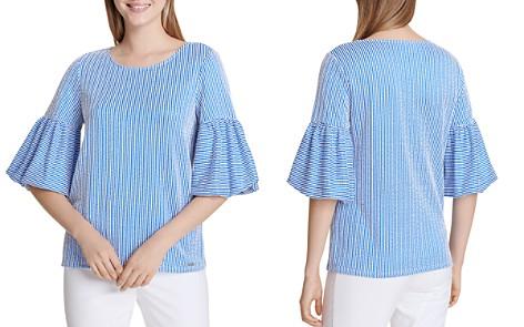 Calvin Klein Seersucker Bell-Sleeve Top - Bloomingdale's_2