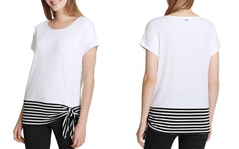 Calvin Klein Stripe-Detail Top - Bloomingdale's_2