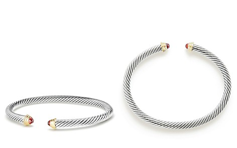 David Yurman Cable Kids Birthstone Bracelet with Garnet & 14K Gold - Bloomingdale's_2