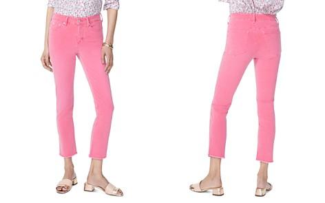 NYDJ Petites Sheri Slim Frayed Ankle Jeans in Begonia - Bloomingdale's_2
