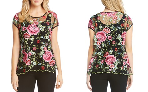 Karen Kane Sheer Embroidered Top - Bloomingdale's_2