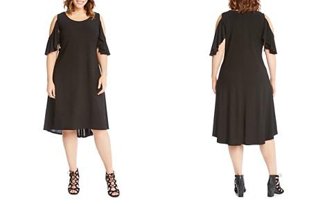 Karen Kane Plus Cold-Shoulder High/Low Dress - Bloomingdale's_2