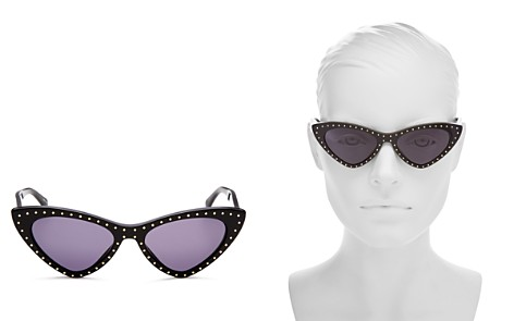 Moschino Women's Moschino 006 Slim Cat Eye Sunglasses, 52mm - Bloomingdale's_2