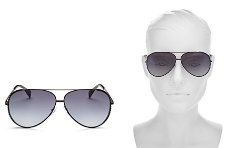 Moschino Women's 007 Aviator Sunglasses, 61mm - Bloomingdale's_2