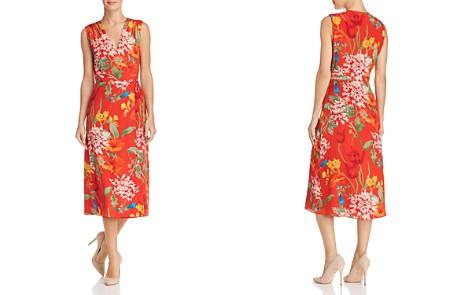 Alice + Olivia Tasia Floral Print Silk Wrap Dress - Bloomingdale's_2