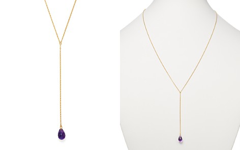 "Bloomingdale's Amethyst Pendant Y Necklace in 14K Yellow Gold, 26"" - 100% Exclusive _2"