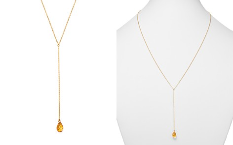 """Bloomingdale's Citrine Pendant Y Necklace in 14K Yellow Gold, 26"""" - 100% Exclusive _2"""