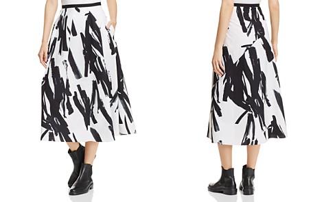 Weekend Max Mara Brushstroke-Print Poplin Midi Skirt - Bloomingdale's_2