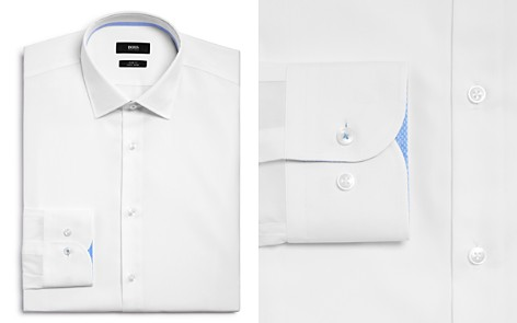 BOSS Solid Contrast Cuffs Slim Fit Dress Shirt - Bloomingdale's_2