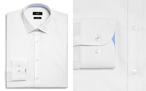 BOSS Solid Contrast Cuffs Slim Fit Dress Shirt - Bloomingdale's_2