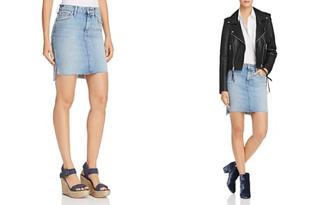 Joe's Jeans High/Low Denim Skirt in Shawny - Bloomingdale's_2