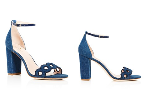 kate spade new york Women's Orson Denim Ankle Strap Sandals - Bloomingdale's_2