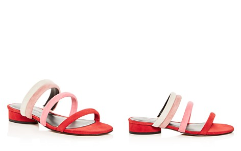 Rebecca Minkoff Women's Kade Color-Block Suede Slide Sandals - Bloomingdale's_2