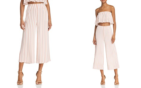 Sage the Label Aurelia Striped Cropped Wide-Leg Pants - Bloomingdale's_2