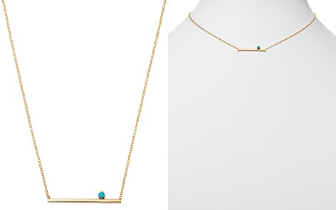 "Zoë Chicco 14K Yellow Gold Turquoise & Bar Pendant Necklace, 16"" - Bloomingdale's_2"