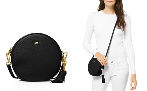 MICHAEL Michael Kors Medium Leather Circle Crossbody - Bloomingdale's_2