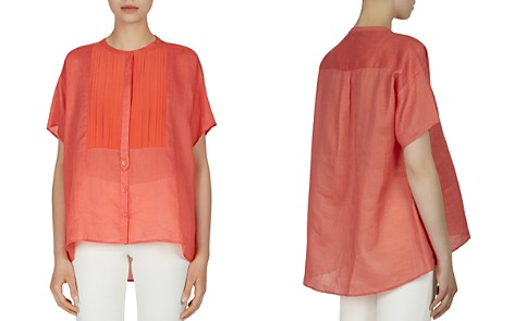 Gerard Darel Capri Pleated Bib Blouse - Bloomingdale's_2