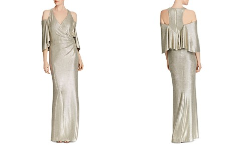 Lauren Ralph Lauren Metallic Cold-Shoulder Gown - Bloomingdale's_2