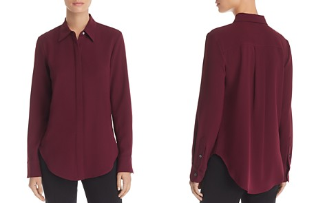 Theory Sunaya Crepe Shirt - Bloomingdale's_2
