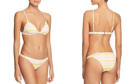 Eberjey Painted Stripe Piper Over The Shoulder Bikini Top & Painted Stripe Taylor Bikini Bottom - Bloomingdale's_2