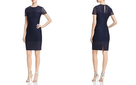 St. John Caris Lace-Detail Knit Dress - Bloomingdale's_2
