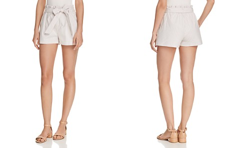 AQUA Striped Paperbag-Waist Shorts - 100% Exclusive - Bloomingdale's_2