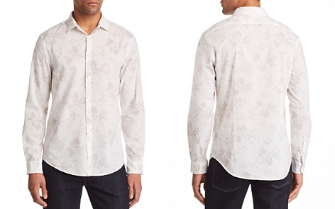 John Varvatos Collection Floral Print Regular Fit Button-Down Shirt - Bloomingdale's_2