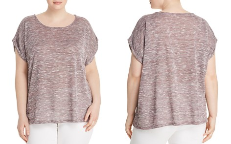 B Collection by Bobeau Curvy Mia Marled Sweater-Knit Tee - Bloomingdale's_2