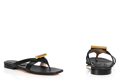 Stuart Weitzman Women's Arro Leather Thong Sandals - Bloomingdale's_2