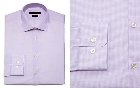 John Varvatos Star USA Micro Check Slim Fit Dress Shirt - Bloomingdale's_2