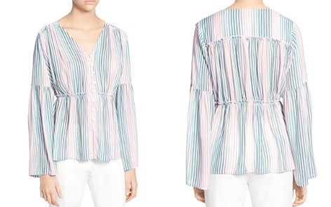 CATHERINE Catherine Malandrino Florrie Striped Bell-Sleeve Blouse - Bloomingdale's_2