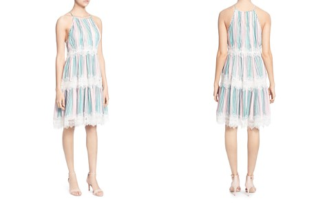 CATHERINE Catherine Malandrino Sidonie Striped Lace-Trim Dress - Bloomingdale's_2