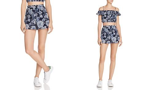 AQUA Floral Paisley Print Shorts - 100% Exclusive - Bloomingdale's_2