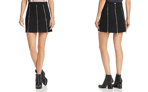 McQ Alexander McQueen Zip-Detail Mini Skirt - Bloomingdale's_2