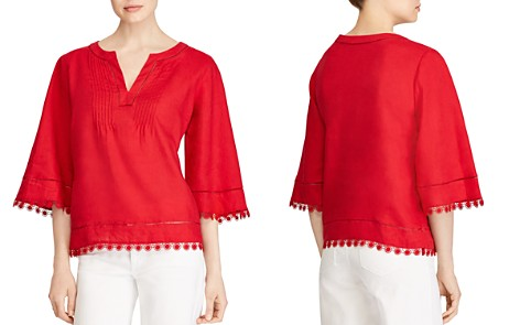 Lauren Ralph Lauren Embroidered Linen Top - Bloomingdale's_2