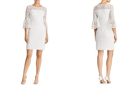 Lauren Ralph Lauren Petites Bell-Sleeve Lace Sheath Dress - Bloomingdale's_2