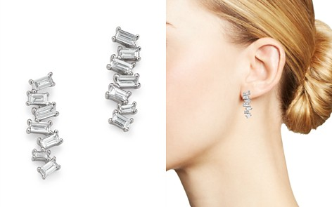 KC Designs 14K White Gold Mosaic Diamond Baguette Bar Earrings - Bloomingdale's_2
