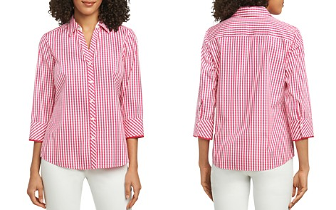 Foxcroft Mary Gingham Button-Down Top - Bloomingdale's_2