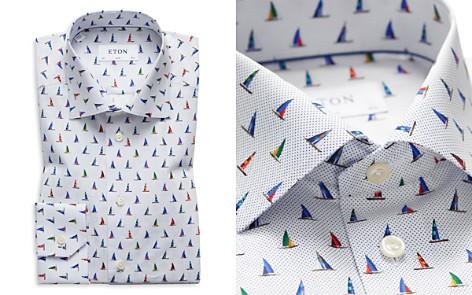 Eton Sailboat Micro Dot Slim Fit Dress Shirt - Bloomingdale's_2
