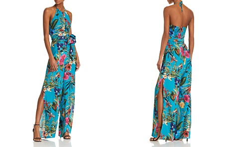 Parker Megara Floral-Print Silk Halter Jumpsuit - Bloomingdale's_2