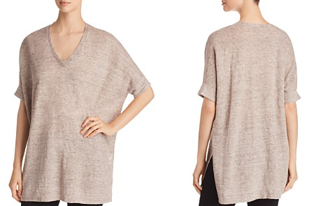 Eileen Fisher Organic Linen V-Neck Tunic - Bloomingdale's_2
