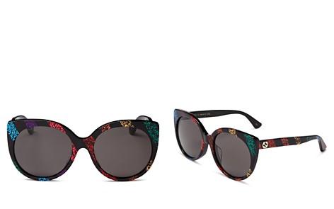 Gucci Glitter Cat Eye Sunglasses, 57mm - Bloomingdale's_2
